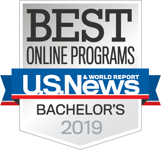 US News and World Reports Badge, signifying SHSU's ranking for 2019.